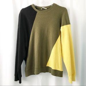 Zara Tops - Zara Color Block Stripe Sweatshirt Pullover